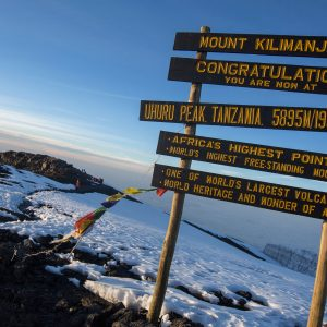 Tanzania Mt Kilimanjaro Summit Sign Sunrise